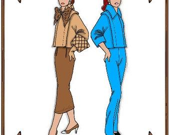 PDF - Cissette Doll Clothes Pattern - Jacket, Skirt, Slacks, Hat - No. PDF-43CS