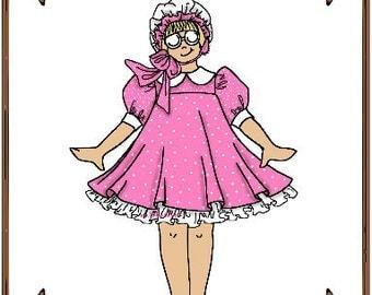 PDF - Betsy McCall Doll Clothes Pattern - Dress, Petticoat - No. PDF-41BMc