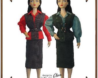 PDF - Gene Marshall Doll Clothes Pattern - Blouse, Vest, Skirt - No. PDF-153