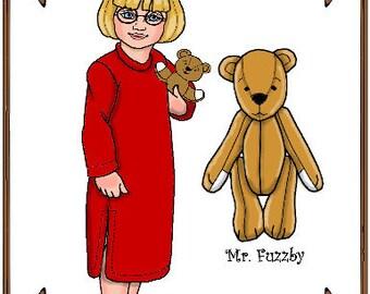 "PDF - 10"" Ann Estelle or Patsy Doll Clothes Pattern - Nightshirt - No. PDF-108"