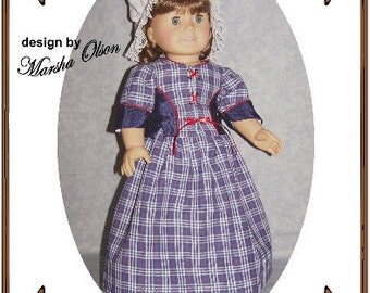 American Girl Doll Clothes Pattern - Two-Piece Suit, Hat - No. 172