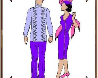 PDF - Gene Marshall or Trent Osborne Doll Clothes Pattern - Dress, Hat, Sweater, Pants - No. PDF-49GTO