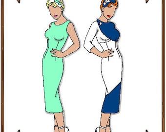 PDF - Gene Marshall Doll Clothes Pattern - Sheath Dress, Jacket, Hat - No. PDF-45