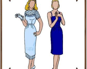 PDF - Gene Marshall Doll Clothes Pattern - Dress, Gloves - No. PDF-9
