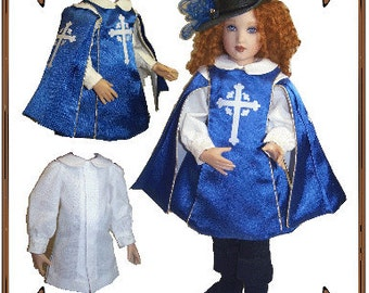 Betsy McCall Doll Clothes Pattern - Tunic, Pants, Surcoat, Hat - No. 143