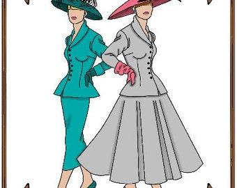 PDF - Gene Marshall Doll Clothes Pattern - Jacket, Skirt, Hat - No. PDF-40