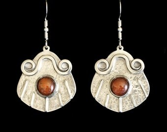 Tiger Eye Pearl earrings