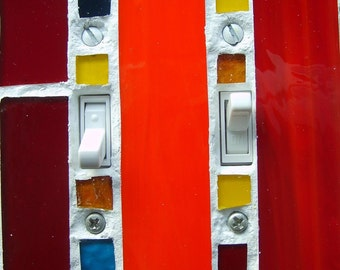 Light Switch Plate Orange Red