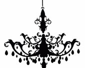 Chandelier 24x22 Vinyl Decor Wall Lettering Words Quotes Decal Art Custom