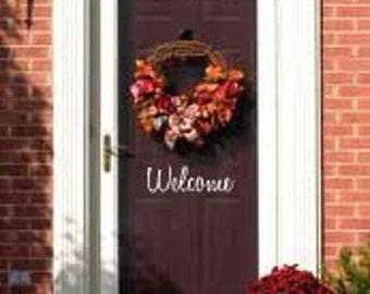 WELCOME Front Door Entry 14x5 Sign Vinyl Wall Decal Sticker