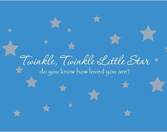 Twinkle Twinkle Little Star Vinyl Wall Decal Decor Wall Lettering Words Quotes Decals Art Custom Nursery Rhyme
