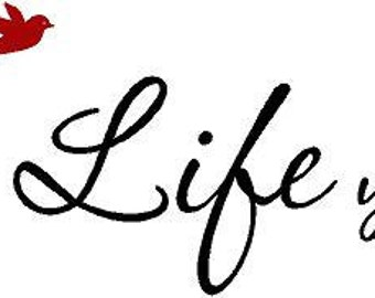 Live the Life you Love 45x7.5 Vinyl Decals Words Vinyl Wall Lettering Art Decal Sticker