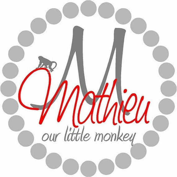 22x22 Personalized Monkey Monogram Vinyl Decal Wall Letters