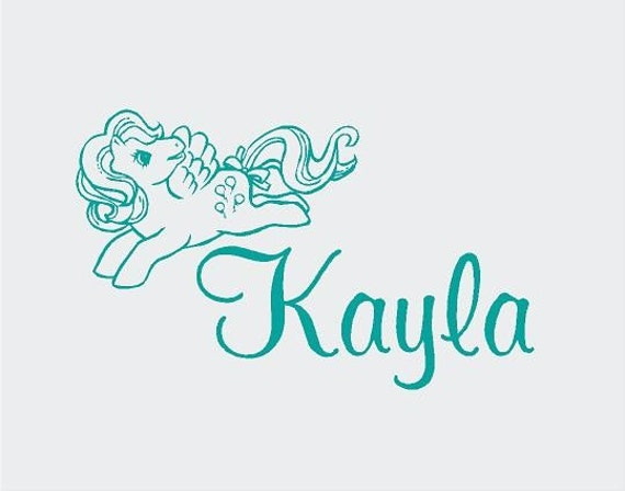 My Little Pony PERSONALIZED Name 22x14 Vinyl Wall Lettering Words Quotes Decals Art Custom