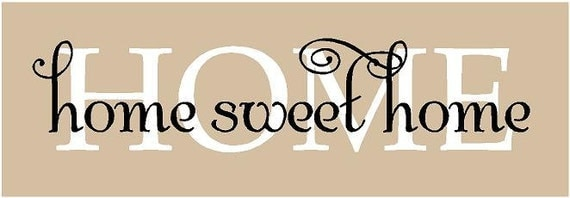 Home Sweet Home 32x7 Vinyl Decor Wall Lettering Words Quotes Decal Art Custom