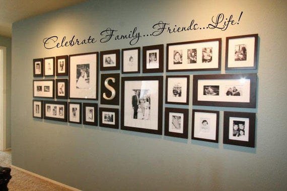 Celebrate Family...Friends...Life 52x5 Vinyl Decal Wall Art Lettering Decals