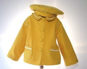 gold coat and hat   size18 to 24 months