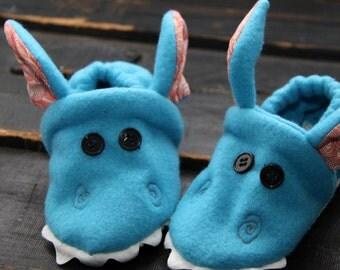 blue dragon slippers