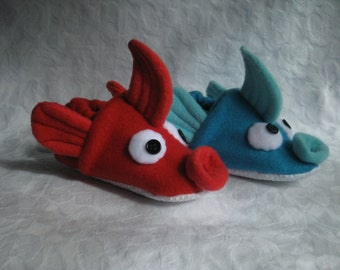 red fish blue fish slippers