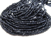 10 Strand x14 Inches Super Diamond Sparkly Black Spinel Micro Faceted Rondell Beads size 2.5 - 3 mm approx Super Shiny