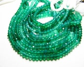 14 inches- super -fine -High quality so Gorgeous  Emarald-Green- Colour- GREEN ONYX -shaded micro faceted -Rondell -beads -size 3 - 3.5 mm