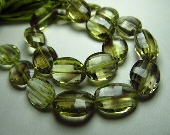 aaaa - high -quality - so -gorgeous - beautifull - bio -lemon quartz - faceted -oval - beads - briolett - size 8x10- 8x13 mm 10 inches amaz