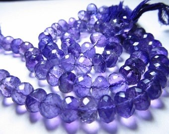8 inches -so gorgeous - amazing beautifull natural purple colour amethyst super sparkle - micro faceted - rondell beads -huge size 7 - 8 mm