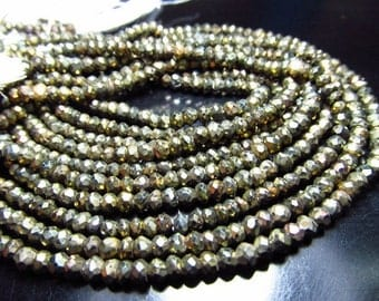 14 inches - diamond - super super sparkle - black spinel - golden cotted - micro faceted - rondell beads size 3.5 mm approx great quality
