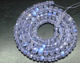 16inches Truly Amazing AAAAA - High Quality Rainbow Moonstone Micro Faceted Rondell Beads Huge size 6 - 3 mm Full Flashy and Nice clear