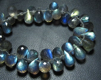 AAAAA -Trully Beautifull High Quality -Labradorite Super Sparkle Faceted Tear drops Briolett  Blue Flashy Fire Size - 5x7 - 5x8 mm 51 pcs