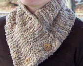 Natural Neckwarmer in Handspun Cotton