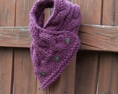 Chunky Cable Cowl in Plum Purple