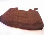 rich cocoa brown 1940s Corde clutch style handbag