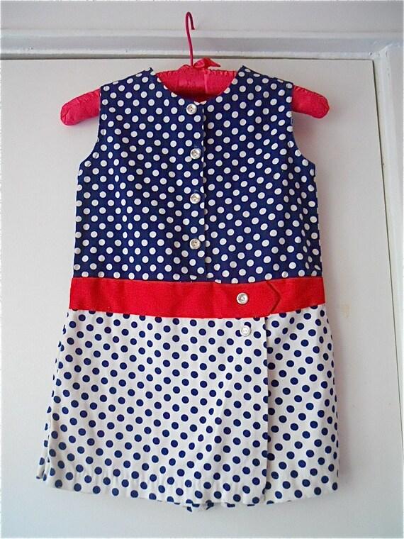 polka dot pretty girls 60s scooter dress 6X
