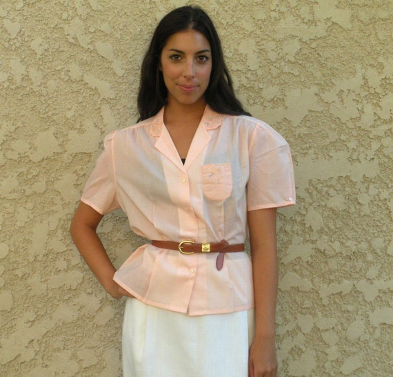 SALE vintage light pink blouse