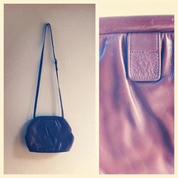 80s AK brown leather bag