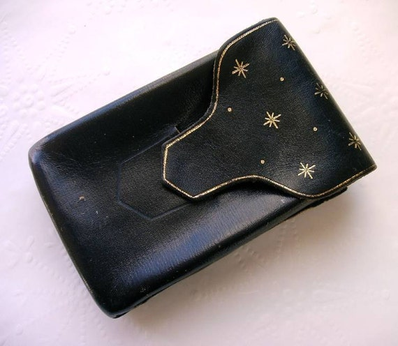 Black Leather Cigarette Case Made in West Germany
