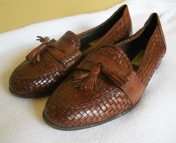 Braided Leather Italian Loafers By Bragano Mens 9 5