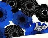 Blue Retro Tote/Market Bag- HOPE