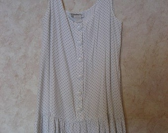 80s Does the 20s Style Polka Dot Dress