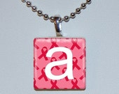 Breast Cancer Tile Pendant- 100% Donation - PicturePerfectPrint