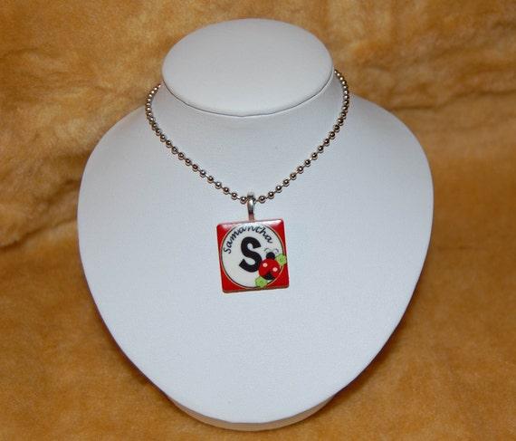 Personalized Ladybug Tile Necklace