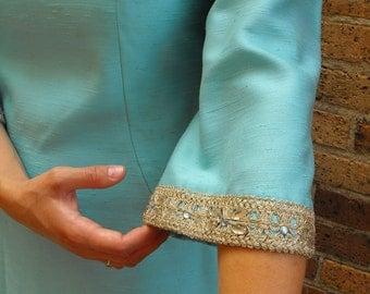 Mod 60s Blue Dress Vintage 1960s Alfred Werber St Louis M