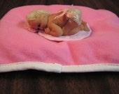 polymer clay sculpt , baby girl , blond mohair,genesis paint,OOAK, Artist sculpt, polymer baby