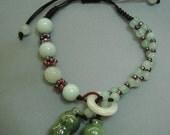 knotted jade peanut bracelet