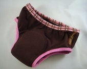 Cotton Toddler Training Underwear with Waterproof Pad - Chocolate for Girls - 1596