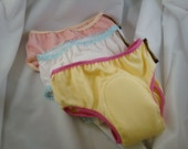 Bamboo and Cotton YOUTH Incontinence Underwear with Waterproof Pad for Girls - Custom Colors