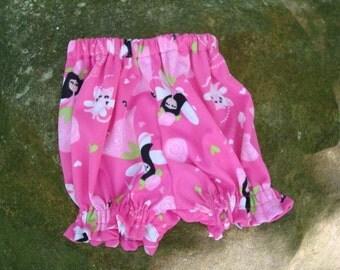 Waterproof pul Baby Girl's Shortie Pull Up Diaper Cover - Heaven 703