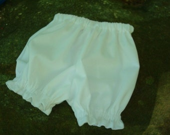 Waterproof Pull Up Shortie Diaper Cover for Baby Boys or Girls - White 700