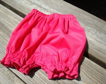 Waterproof Pull Up Shortie Diaper Cover for Baby Girls in Solid Colors - Magenta 711